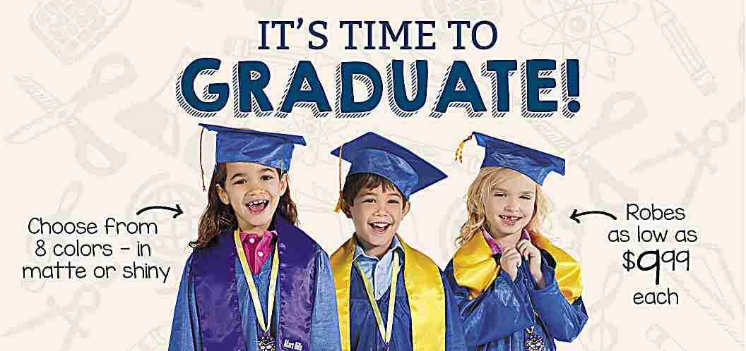 Elementary Graduation Robes as low as $9.99