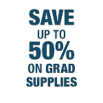 Save Up To 50% on Graduation Supplies