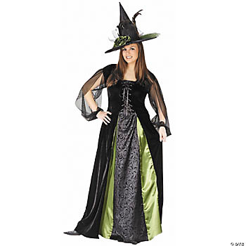 Goth Maiden Witch Adult Women's Plus-Size Costume