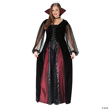 Goth Maiden Vampire Adult Women's Plus-Size Costume
