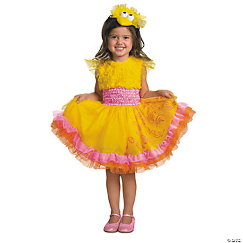 Frilly Big Bird Girl's Costume