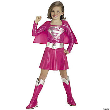 Pink Supergirl™ Child Girl's Costume