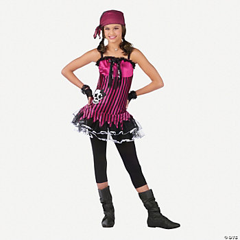 Rockin' Skull Pirate Girl's Costume