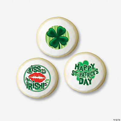 St patrick s day mini edible image cake decorations for K decorations trading