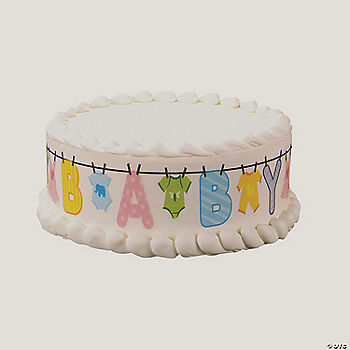Baby clothesline cake design print edible image cake for K decorations trading