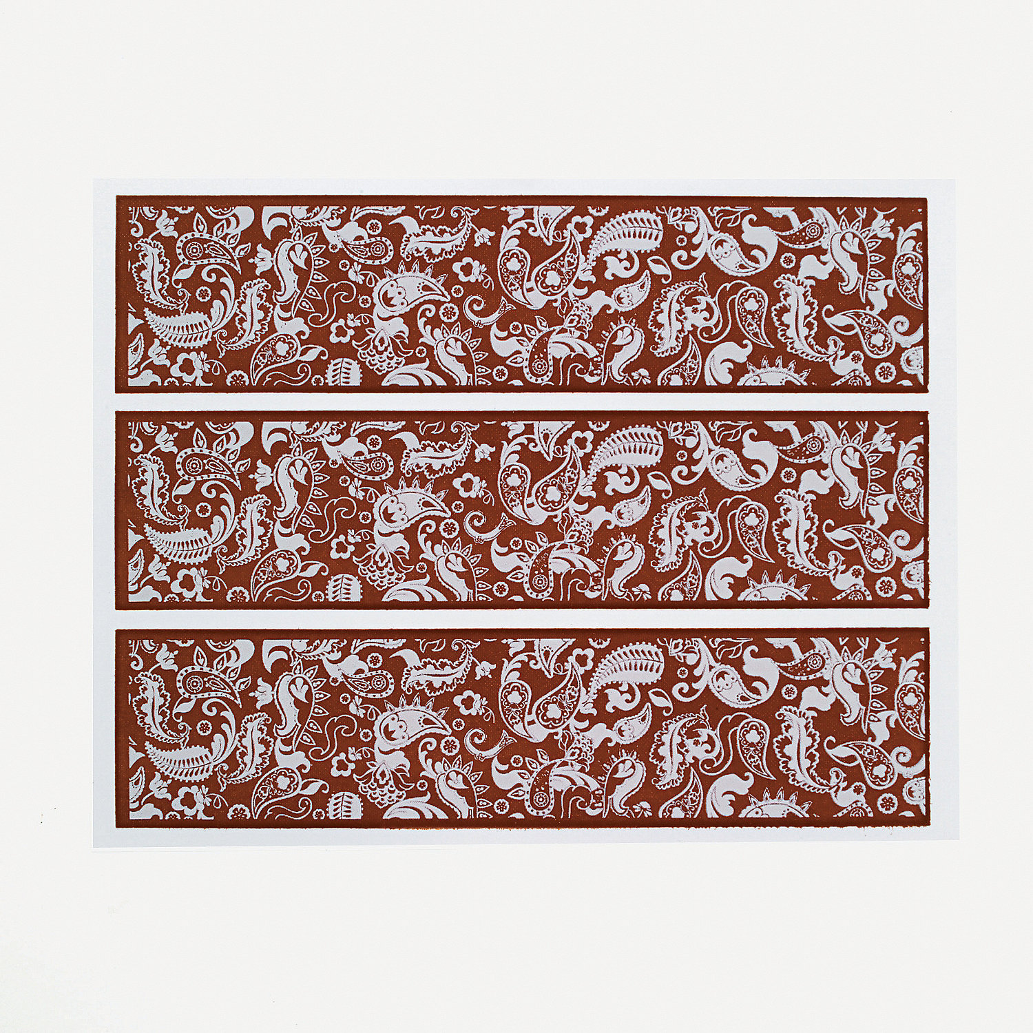 Handsome Paisley Design Print Edible Image® Cake Decorations - Oriental Trading - Discontinued