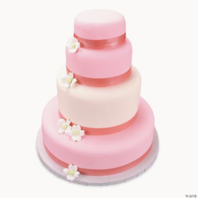 Cake Decorating Edible Ribbon : Rose Pink Shimmer Ribbon Edible Image  Cake Decorations ...