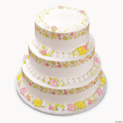 Cake Decorating Edible Ribbon : Whimsical Garden Shimmer Ribbon Edible Image  Cake ...