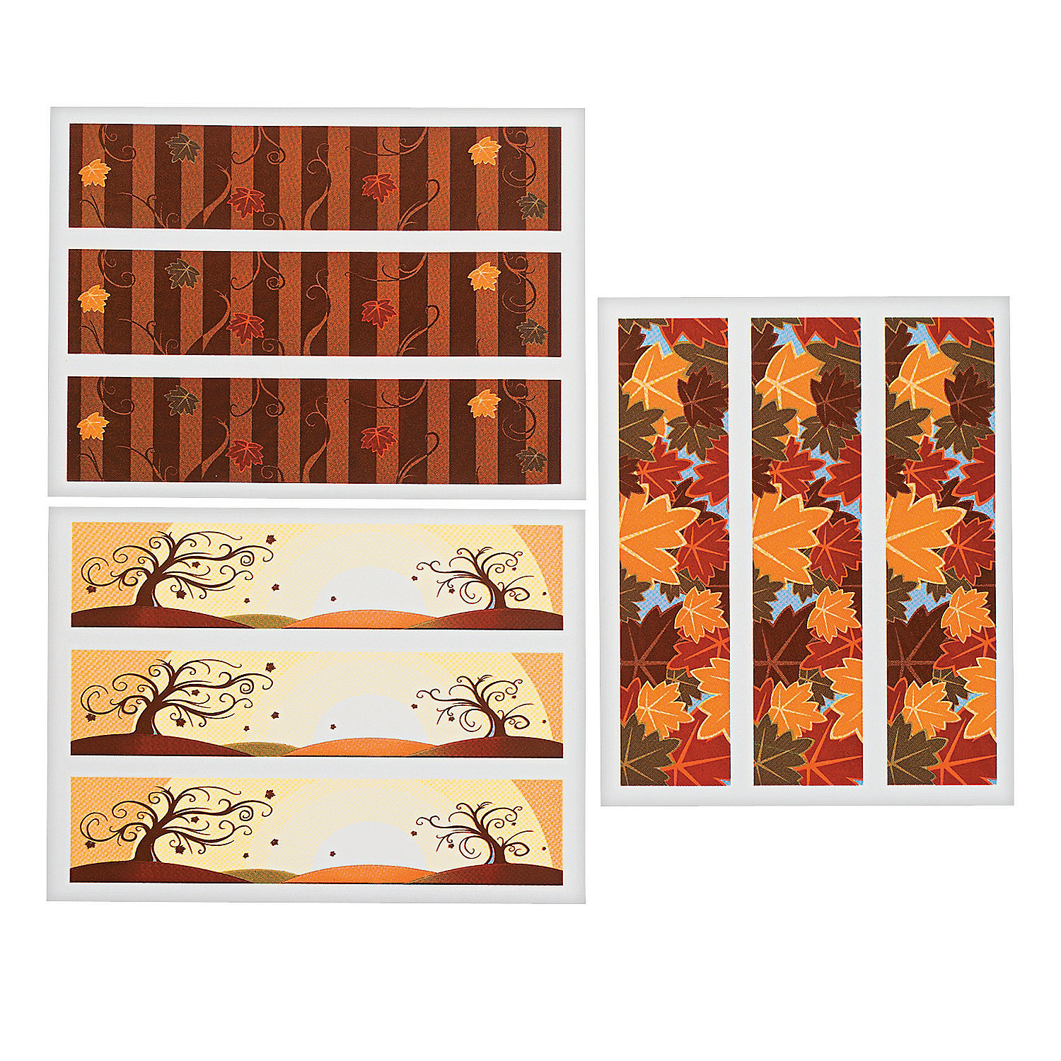 Fall edible image side sheet cake decorations oriental for K decorations trading