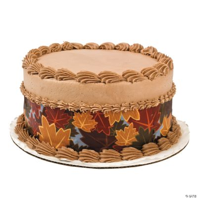 Cake Decor Fall : Fall Edible Image  Side Sheet Cake Decorations - Oriental ...
