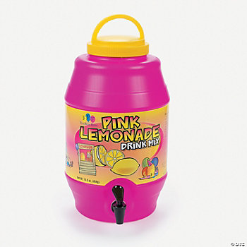 Pink Lemonade Drink Barrel