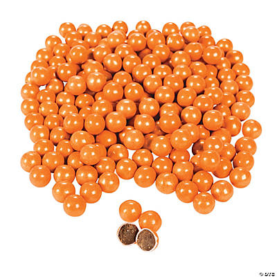Shimmer Orange Chocolate Candies