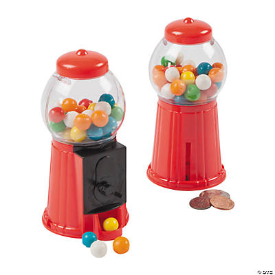 Gumball Machine Toy Banks With Gum