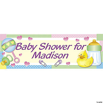 personalized baby shower banner oriental trading discontinued
