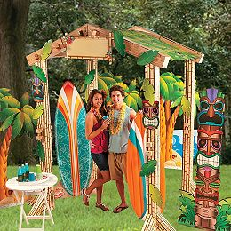 Luau decorations luau party decorations hawaiian luau for How to make luau decorations at home