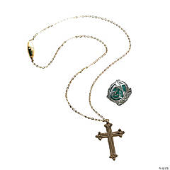 Pirates of the Caribbean Angelica Cross Necklace & Ring
