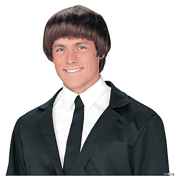 60's Band Member Brown Wig