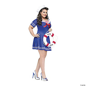 Anchors Away Plus Size Adult Women's Costume