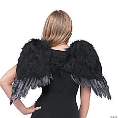 Child's Black Feather Angel Wings