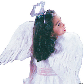 Angel Wings Feather Child White