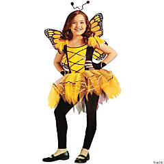 Ballerina Butterfly Gold Costume for Girls