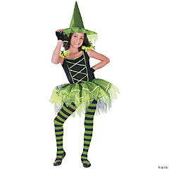 Ballerina Witch Green Girl's Costume