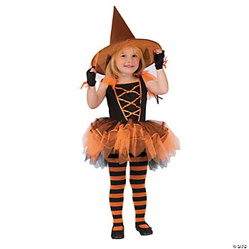 Ballerina Witch Orange Girl's Costume