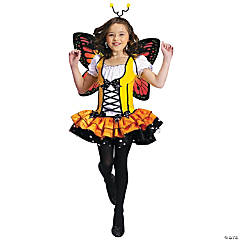 Monarch Butterfly Princess Girl's Costume