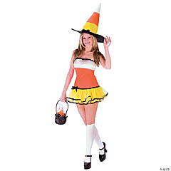 Candy Corn Treat Adult Women's Costume