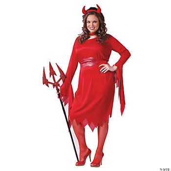 Delightful Devil Plus Size Adult Women's Costume