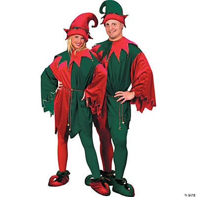 Elf Set Velvet Hat Tunc Shoes Adult Costume