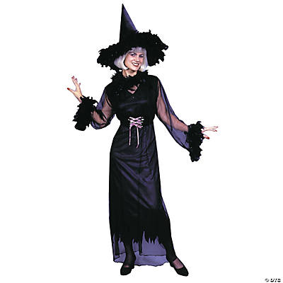 Feather Witch Plus Size Adult Women's Costume