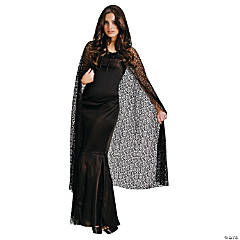 Gothic Net Hooded Cape Adult Women's Costume