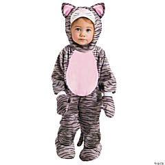Grey Stripe Kitten Girl's Costume