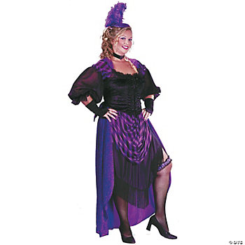 Plus Size Lady Maverick Adult Women's Costume