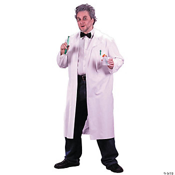 Thanksgiving Craft Ideas Adults on Mad Scientist Lab Coat Adult Costume   Oriental Trading