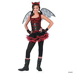 Night Wing Devil Red Girl's Costume