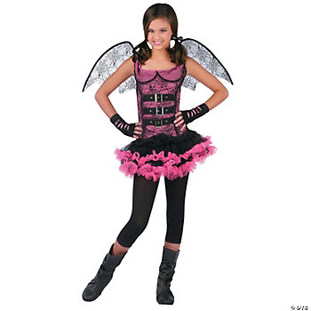 Night Wing Spider Pink Girl's Costume