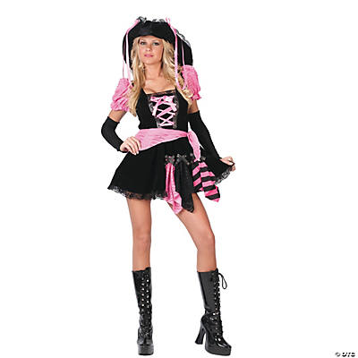 Pink Pirate Punk Adult Women's Costume