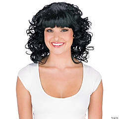 Poof Bangs Black Wig