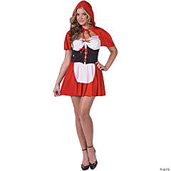 Red Hot Riding Hood Adult Women's Costume