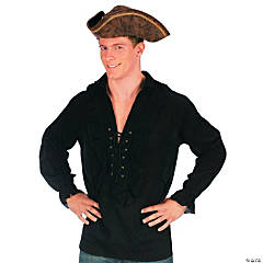 Shirt Fancy Black Adult Men's Costume