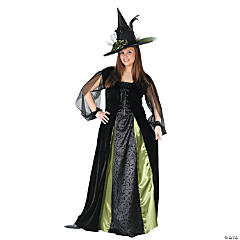 Witch Goth Maiden Plus Size Adult Women's Costume