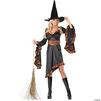 Witch Ruffle Adult Women's Costume