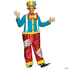 Clown Male Adult Men's Costume