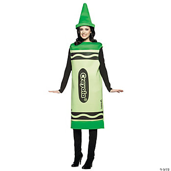 Crayola® Crayon Green Adult's Costume