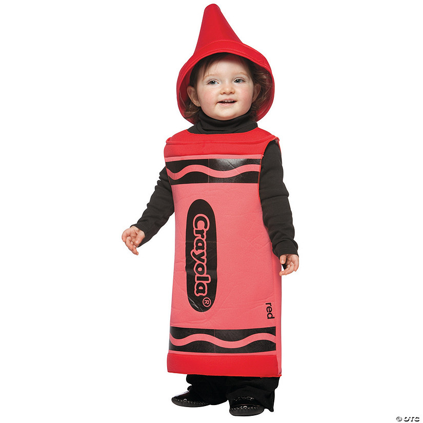 baby red crayola crayon costume 12 24 months - Crayola Halloween Costumes