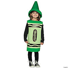 Crayola Toddler Green Kid's Costume