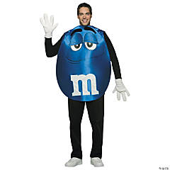 M&M's® Character Poncho Blue Adult's Costume