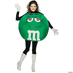 M&M's Character Poncho Green Teen Kid's Costume